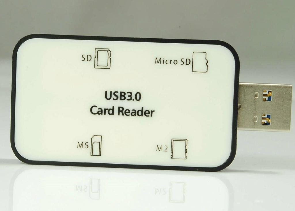 USB3.0多功能讀卡器 GC3008A  4