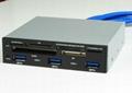 USB3.0 三口集線器+讀卡