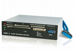 USB3.0內置Hub+USB3.0六卡讀卡器 GP3055A