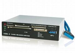 USB3.0内置Hub+USB3.0六卡读卡器 GP3055A