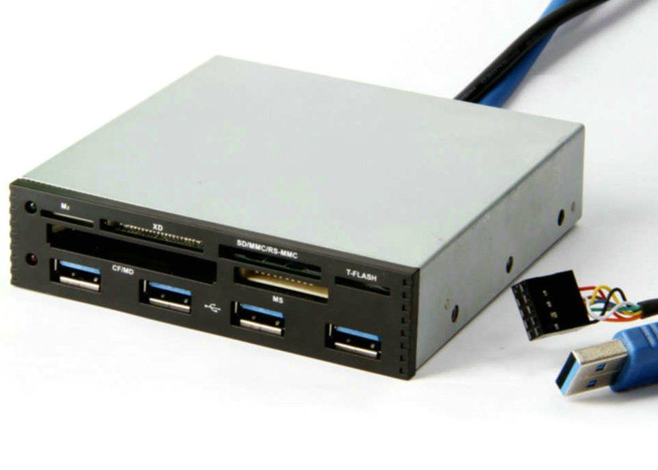 USB3.0 Internal Hub + USB 2.0 All-in-one Card Reader GC006A-3.0  1