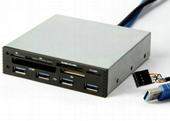 USB3.0 Internal Hub + USB 2.0 All-in-one Card Reader GC006A-3.0
