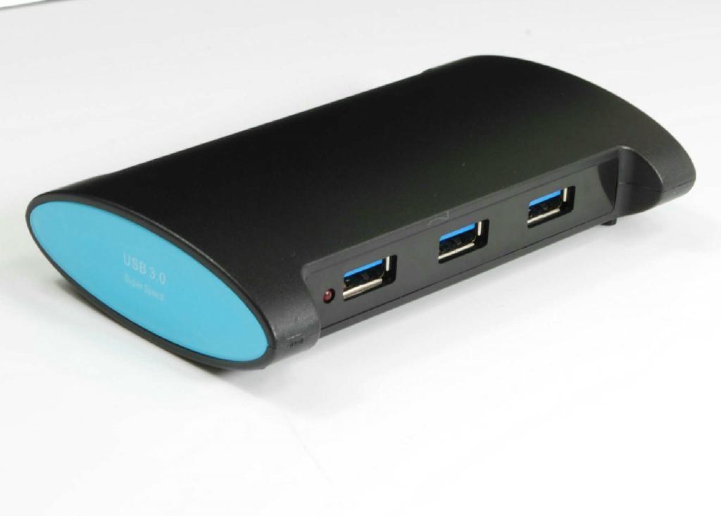 USB3.0 三口集線器+讀卡器 GU3022B  2