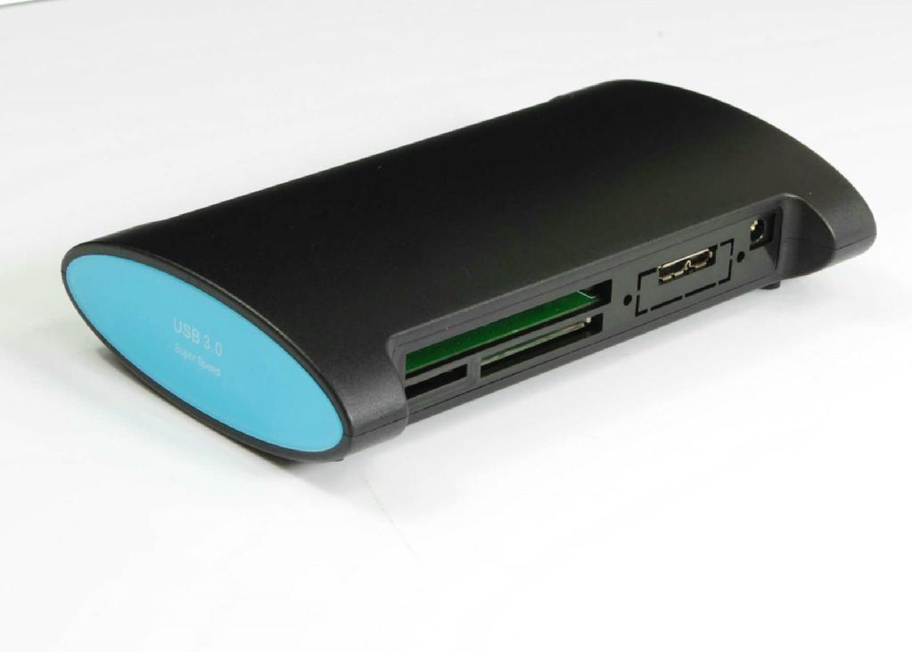 USB3.0 三口集線器+讀卡器 GU3022B  3