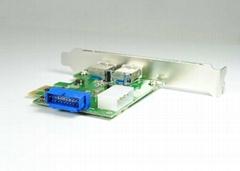 USB3.0 PCI-E轉接卡  GP3017A