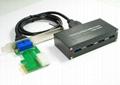 USB3.0 PCI-E 轉 USB3.0 HUB (可用筆記本和臺式機)  GP3060A  5
