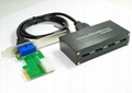 USB3.0 PCI-E 转 USB3.0 HUB (可用笔记本和台式机)  GP3060A  5