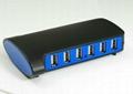 USB2.0 10 口 HUB GU2026A  4
