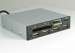 USB2.0內置Hub+USB2.0六卡讀卡器  GC006A