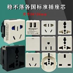 稳不落wonpro工业机柜流水线设备老化测试插座模块系列