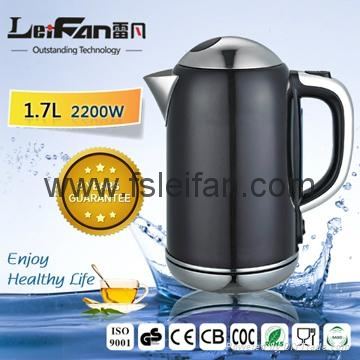 kitchen appliance 360degree rotating cordless electric kettle with GS, CE, ROHS  4