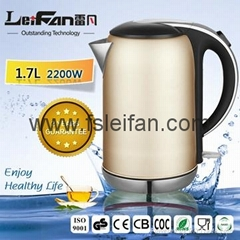 stainless steel electric kettle with color spray