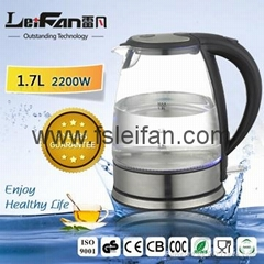 1.8L capacity glass electric kettle