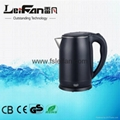 cordless double wall 1.5L stainless steel water kettle 3