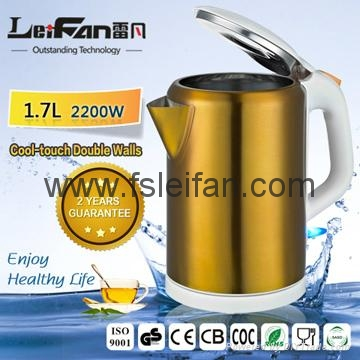 2017 Top quality stainless steel electric cordless kettle promotion  1