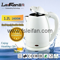 Hot Sale1.7L 2200W CE ROSH CB Glass Electric Kettle With LED