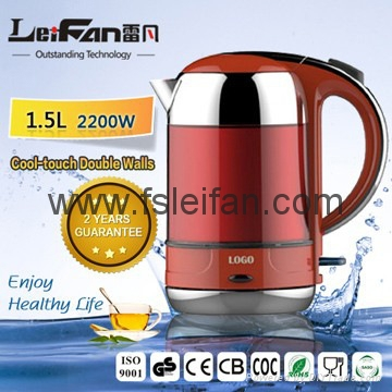 high quality low price cool touch electric glass kettle 1