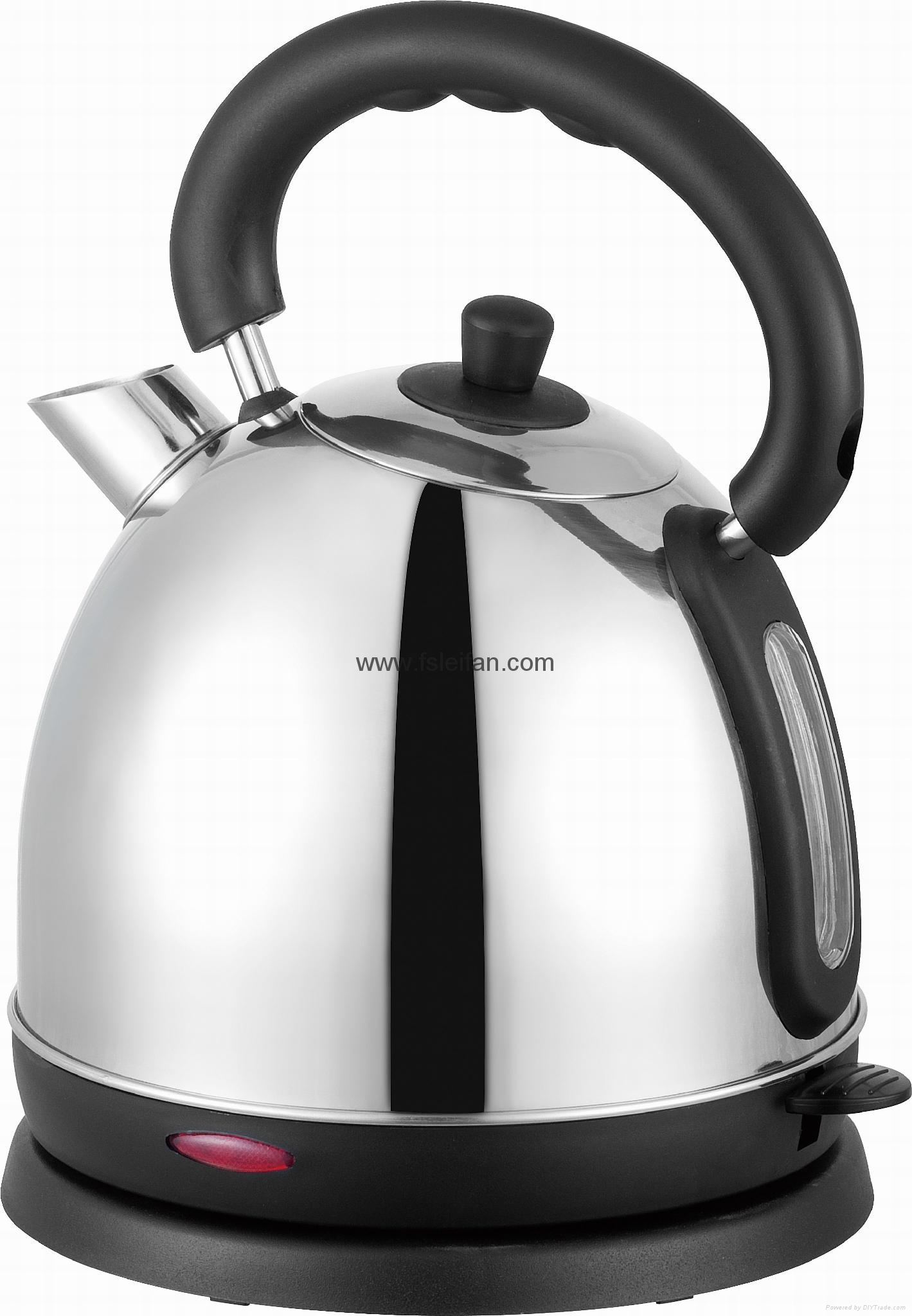 Stainless steel electric kettle 1.7L capacity 1