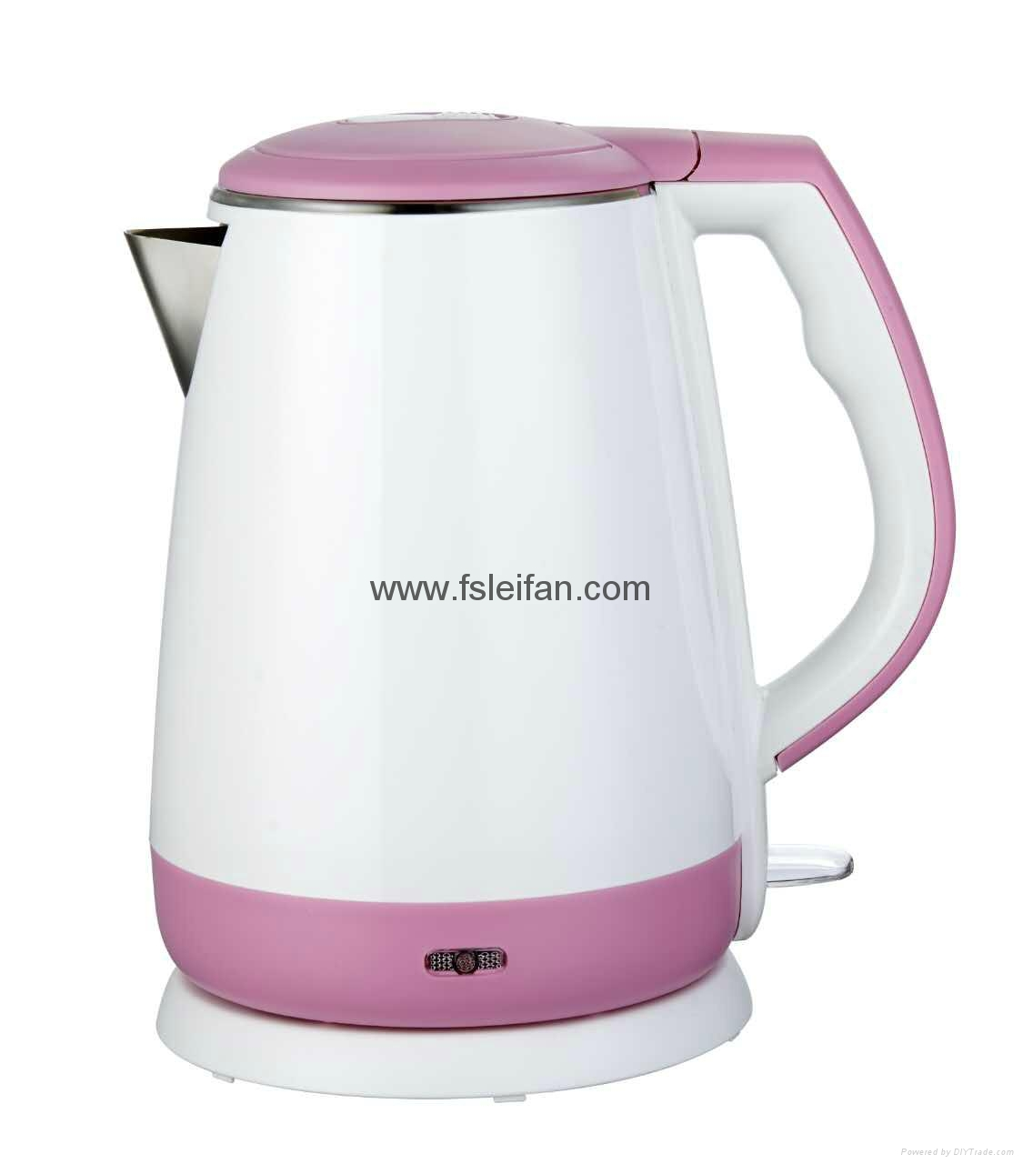 1.5L cordless double wall electric kettle 2