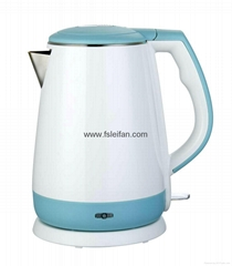 1.5L cordless double wall electric kettle