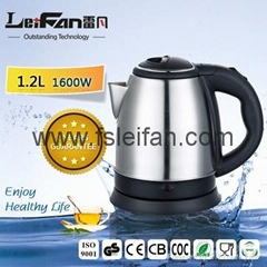 2017 top quality for stainless steel electric kettle