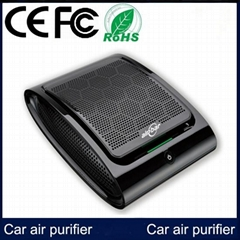 Black CA100 Plasma Car Air Purifier with CE FCC ROHS Certification