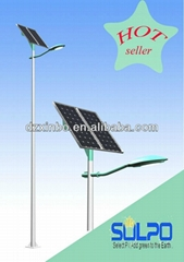solar power LED street light system street panel lamp pole outdoor lighting
