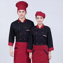 厨师工作服定做餐饮工作服订做