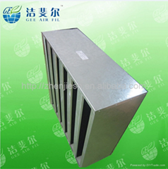 Chemical activated carbon Vv-bank air filters
