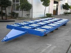 27吨集装箱板拖车