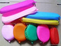 Hot selling zipper Silicone coin bag