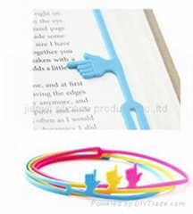 Newest stationery silicone bookmark