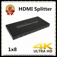 HDMI Distribution amplifier 1 to 8 HD display accessories
