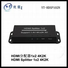 2 port  HDMI distribution amplifier HDMI 1.4V4k*2k 3D supported