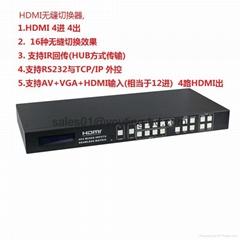 HDMI 4 x4 mixed inputs  seamless matrix switcher