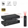 優霆HDMI無縫切換器分屏器二畫面分割器帶RS中控 5