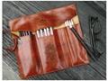 Retro pen bag twilight leather pencilcase cosmetic bag 1