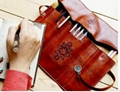 Retro pen bag twilight leather pencilcase cosmetic bag 3