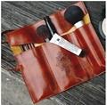 Retro pen bag twilight leather pencilcase cosmetic bag 4