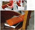 Retro pen bag twilight leather pencilcase cosmetic bag 5