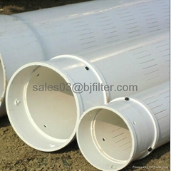 chinese manufacture carbon steel or pvc slotted liner pipe
