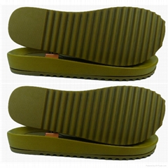 tpr outsole and pvc insole double shoes soles for women's sandals