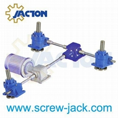 Jack system with four worm gear screw jacks and two bevel gear boxes supplier