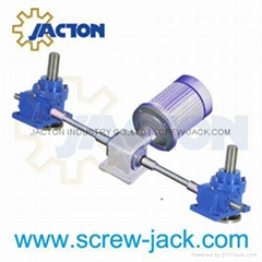 5 ton capacity traveling nuts rotating screw jacks lifting platform supplier