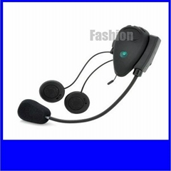 free talking Motorcycle helmet bluetooth interphone   500m Built in FM Radioio