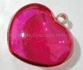 love shape metal plastic shell handbag