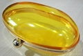 egg shape metal plastic shell handbag