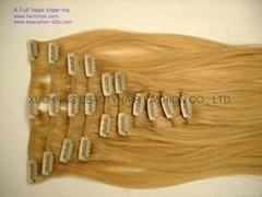 Clips-ins,clips on hair extension
