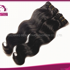 Europe style Human hair weaves, Body weft,
