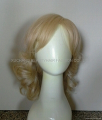 Light Blonde lace front synthetic wig